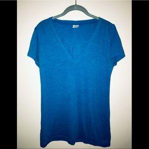 PINK Victoria's Secret blue v-neck T-shirt